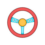 Game steering wheel icon, cartoon style Royalty Free Stock Images