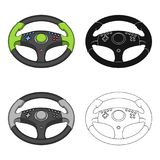 Game steering wheel single icon in cartoon,black,outline style for design.Car maintenance station vector symbol stock. Illustration Stock Images