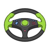 Game steering wheel single icon in cartoon style for design.Car maintenance station vector symbol stock web illustration. Game steering wheel single icon in Stock Photography