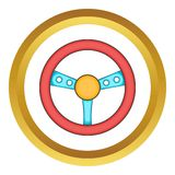 Game steering wheel vector icon Stock Photography