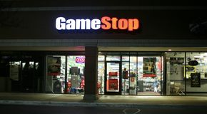 Game Stop Video Store. Game stop buys, sells and exchanges video games and video game accessories stock image
