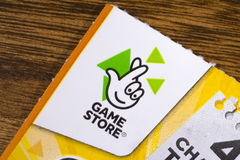 Game Store Scratchcard Stock Photography