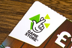 Game Store Scratchcard Royalty Free Stock Image