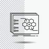 Game, strategic, strategy, tactic, tactical Line Icon on Transparent Background. Black Icon Vector Illustration royalty free illustration