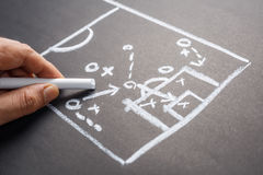 Game Strategy on Chalkboard Royalty Free Stock Photo