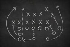Game strategy drawn on blackboard Stock Image