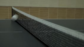 The game of table tennis stock video footage