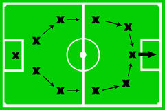 Game tactics. Tactics in a sport's game and in life and business Stock Photography