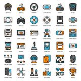 Game Technology filled outline icon. Set of game technology filled outline icon, isolated on white background Royalty Free Stock Image