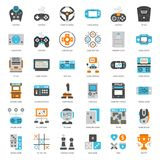 Game Technology flat icon. Set of game technology flat icon, isolated on white background Royalty Free Stock Photo