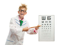 Game of teenager in ophthalmologist Stock Images