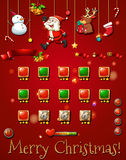 Game template with christmast objects Stock Image