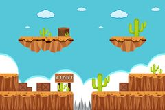 A Game Template Desert Scene Stock Images