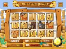Game template with desert theme Stock Photos