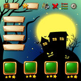 Game template with halloween background. Illustration Stock Photography