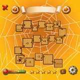 Game template with halloween theme. Illustration Stock Image