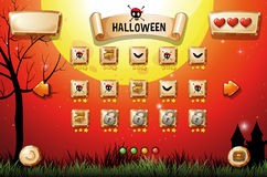 Game template with halloween theme Stock Photo