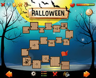 Game template with halloween theme Stock Images