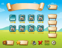 Game template. Illustration of a game template with field background Royalty Free Stock Photography