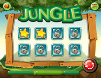 Game template with jungle theme Stock Photo