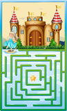 Game template with princess and castle Stock Photo