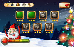 Game template with Santa on christmas eve Stock Photography
