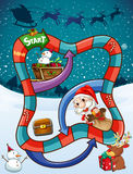 Game template with Santa and presents Stock Photography