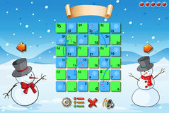 Game template with snowman Stock Photography