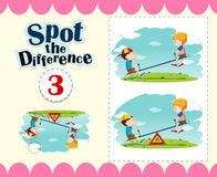 Game template of spot the difference Royalty Free Stock Image