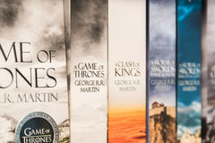 Game Of Thrones Books Royalty Free Stock Photos