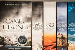 Game Of Thrones Books Royalty Free Stock Image
