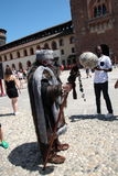 Game of Thrones, Milan 2017. Inside the Sforzesco Castle, on July 15 and 16, 207, a whole Game of Thrones weekend is held in Milan, with the event `The Throne of stock images