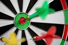 Game throwing darts at the target Royalty Free Stock Images