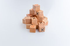 Game of Tic Tac Toe, close-up Royalty Free Stock Photo
