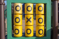 Game Tic-tac-toe playground kindergarten. Game big Tic-tac-toe in the playground kindergarten Royalty Free Stock Images