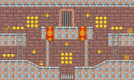 Game tileset 17. Tile set Platform for Game - A set of vector game asset, contains ground tiles Stock Photo