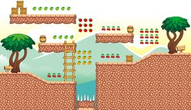Game tileset 28 Royalty Free Stock Photo