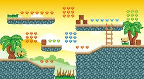 Game tileset 34 Royalty Free Stock Photography