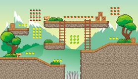Game tileset 30 stock illustration
