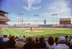 Game-time at Old County Stadium Royalty Free Stock Photography