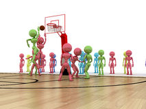 Game time. Privacy-attack in basketball.  �4 Stock Photography