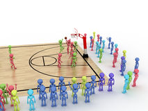 Game time. Privacy-attack in basketball. �6 Stock Images