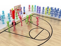 Game time. Privacy-attack in basketball. �1 Stock Photos