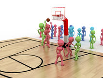 Game time. Privacy-attack in basketball.  №3 Stock Photos