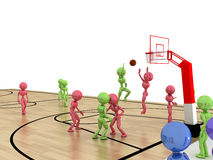 Game time. Privacy-attack in basketball.  №3 Stock Image