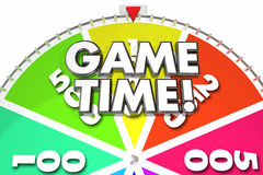 Game Time Spinning Wheel Fun Gaming Royalty Free Stock Photos