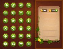 Game UI set buttons interface. Screen gameplay Stock Photography