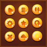 Game UI set buttons interface. Screen gameplay Royalty Free Stock Image