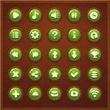 Game UI set buttons interface. Screen gameplay Royalty Free Stock Photos