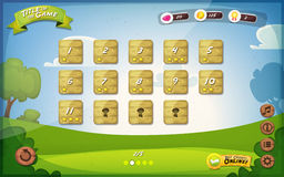 Game User Interface Design For Tablet Royalty Free Stock Photos